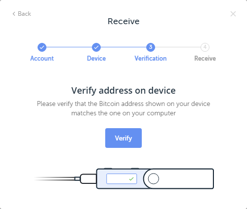 hardware wallet address confirmation